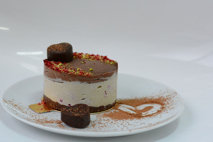 """Mini-tort """"Sharing cu zmeură și ciocolată"""" pentru 2"""